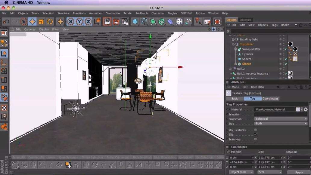 Creating a Modern-Style Interior Scene in CINEMA 4D and V-Ray
