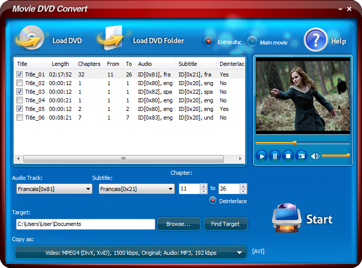 MeMedia Movie DVD Convert 7.0.1