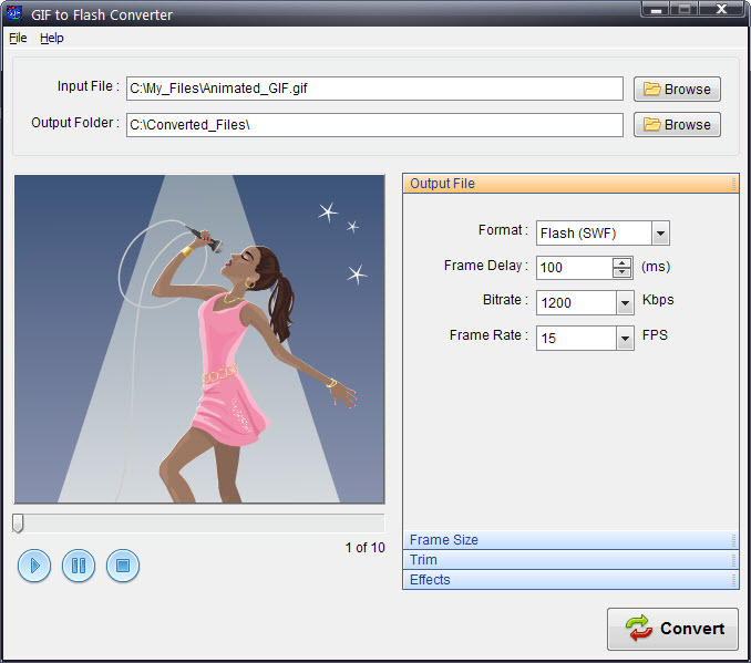 Program4Pc GIF to Flash Converter 3.5