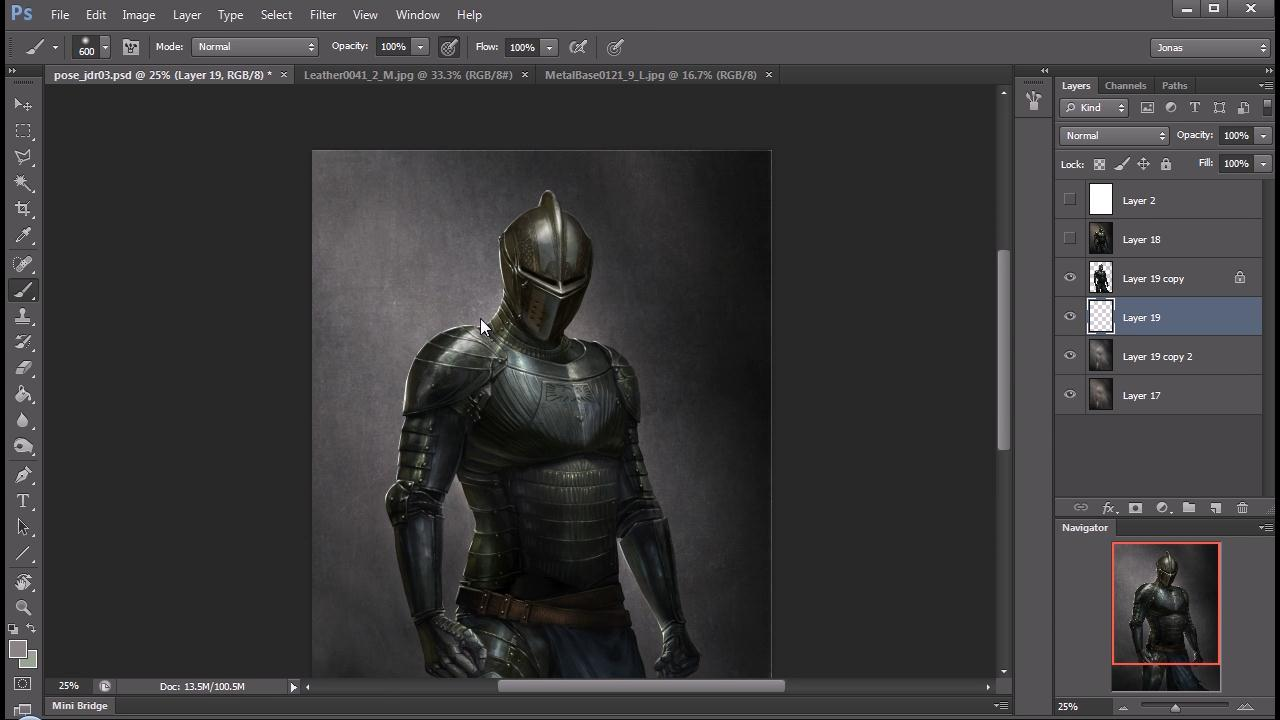 Creating an Armored Knight Concept in Photoshop