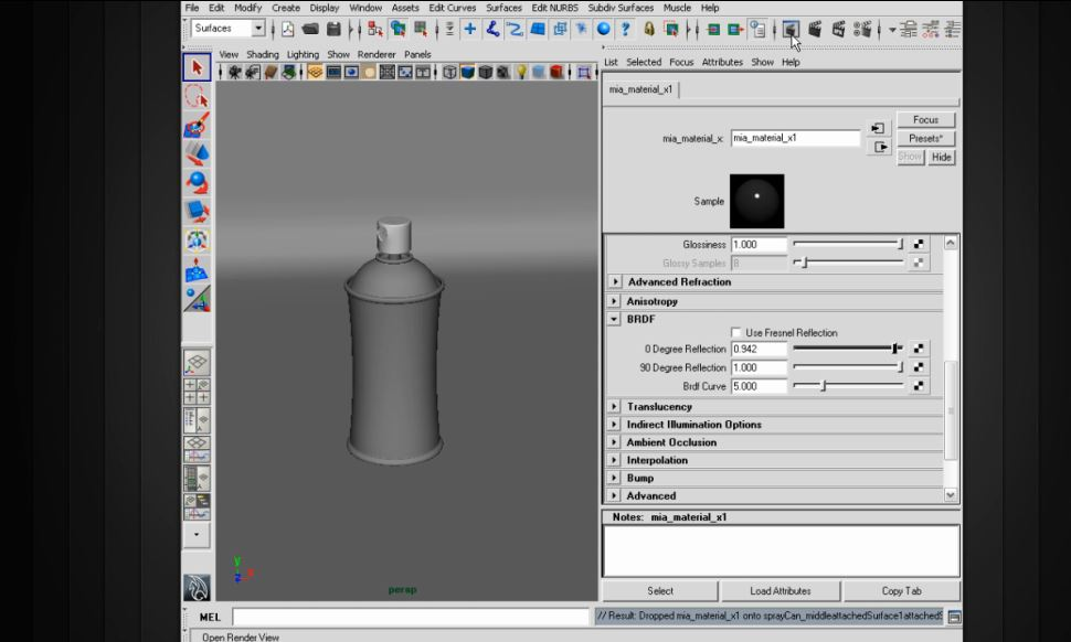 Shader Recipes: Brushed Metal Surfaces in Maya