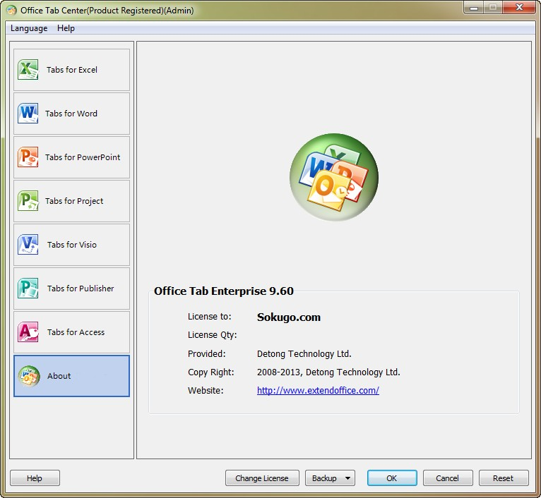 Office Tab Enterprise Edition 9.60