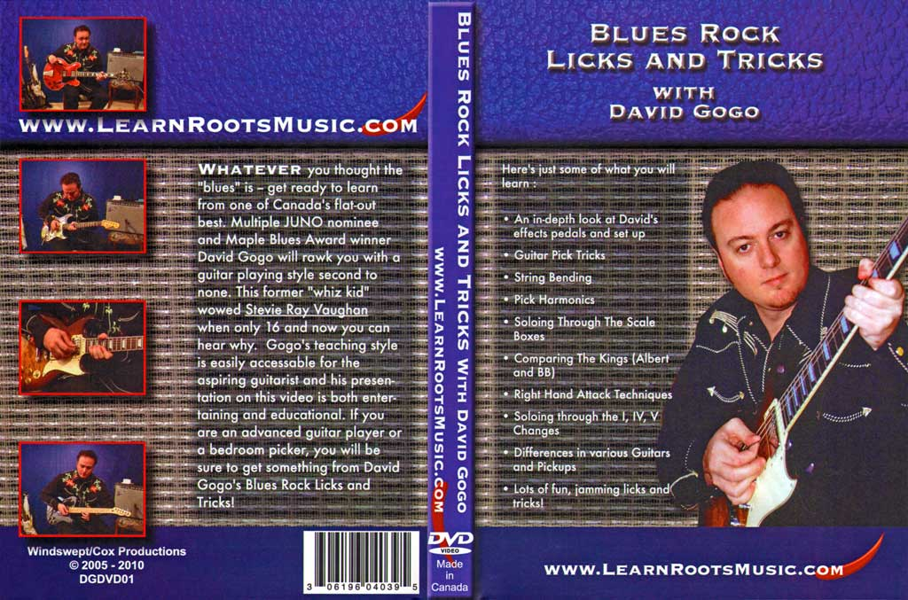 Learn Roots Music - Blues Rock Licks and Tricks - David Gogo - DVD (2008)