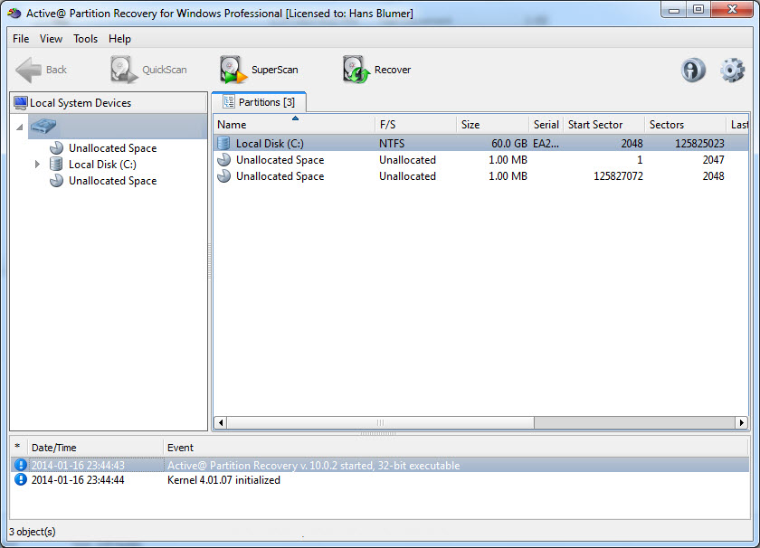 Active NTFS Data Recovery Toolkit 5.0
