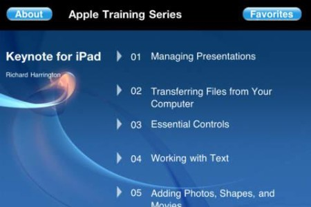 Peachpit Press - Apple Video Training Keynote for iPad