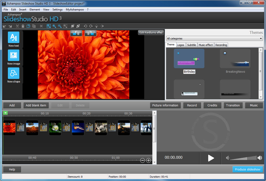 Ashampoo Slideshow Studio HD 3.0.0.17 Beta + Portable