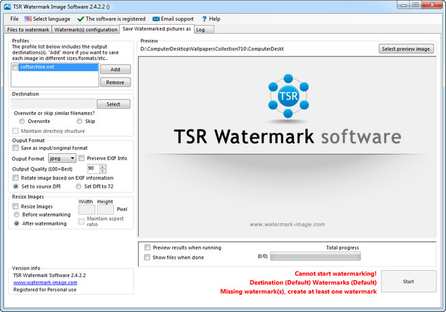 TSR Watermark Image Software v 2.4.2.2