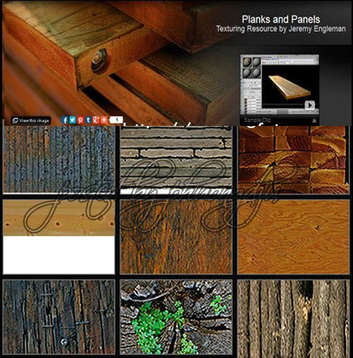 Planks and Panels Texturing Resource by Jeremy Engleman