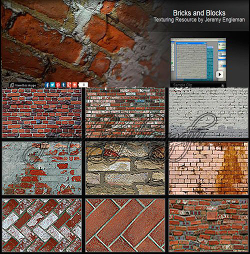Bricks and Blocks Texturing Resource by Jeremy Engleman