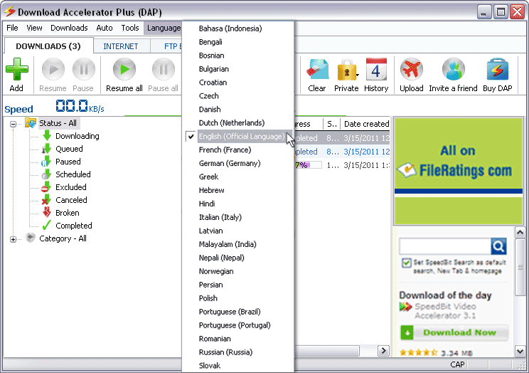 Download Accelerator Plus 9.7.0.6 Beta