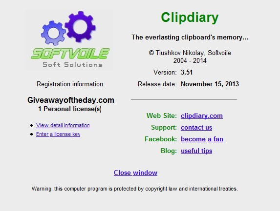 Clipdiary 3.51
