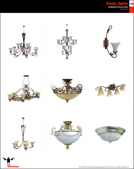 10ravens: 3D Models collection vol.022 Classic lights 02