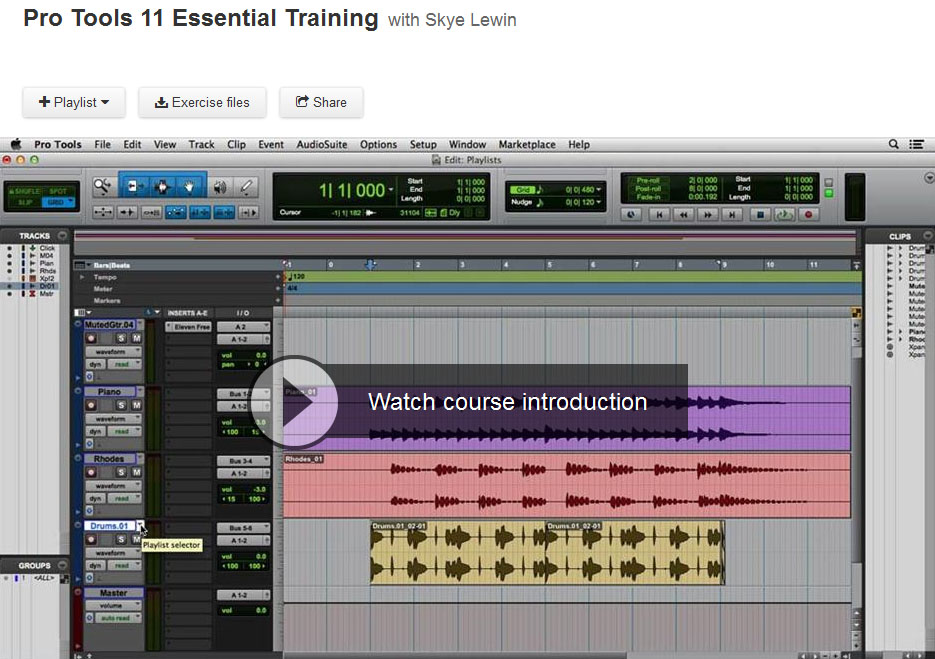 Pro Tools 11 Essential Training (Repost)