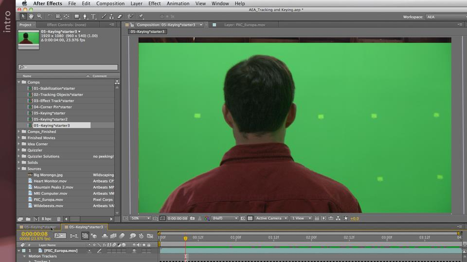 After Effects Apprentice 12: Tracking and Keying