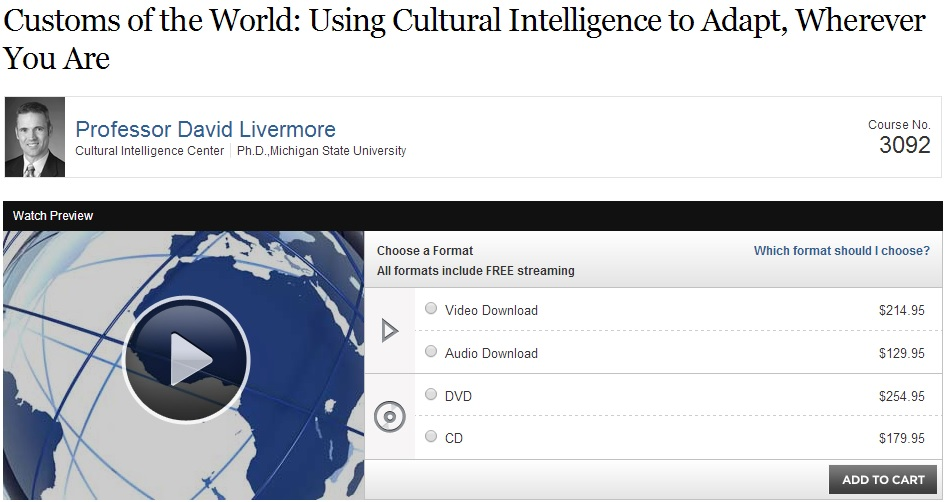 Customs of the World - Using Cultural Intelligence to Adapt, Wherever You Are