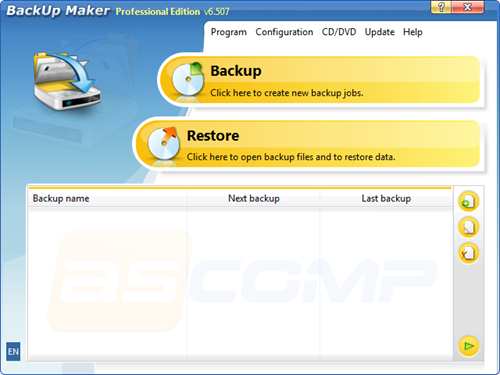 ASCOMP Software Backup Maker Professional 6.507 Retail