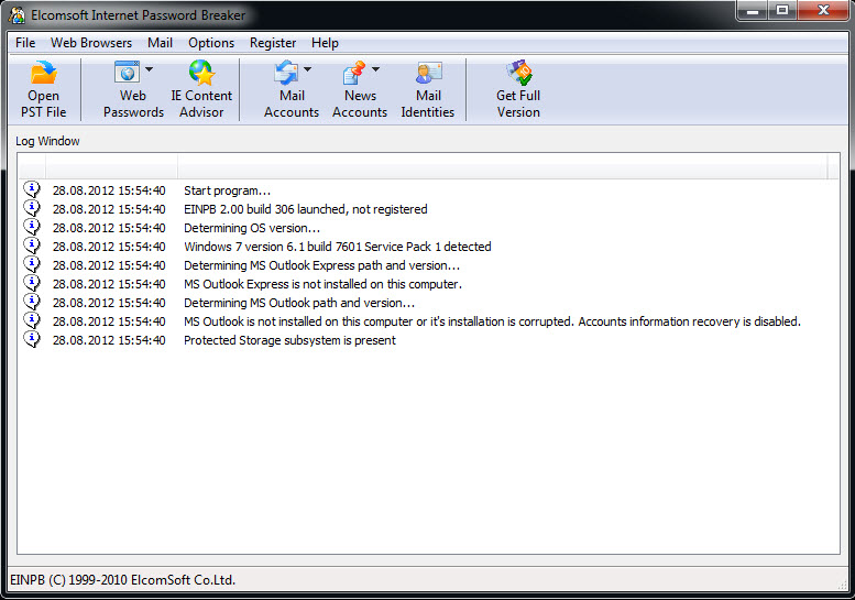 Elcomsoft Internet Password Breaker 2.01.309