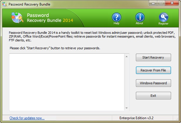 Password Recovery Bundle 2014 Enterprise Edition 3.2