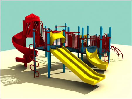 3D Models for Children Playground
