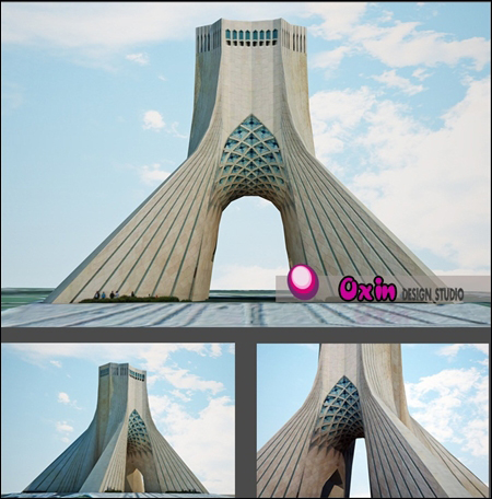 Azadi Tower 3D Model_3D Max 2011+Vray 2