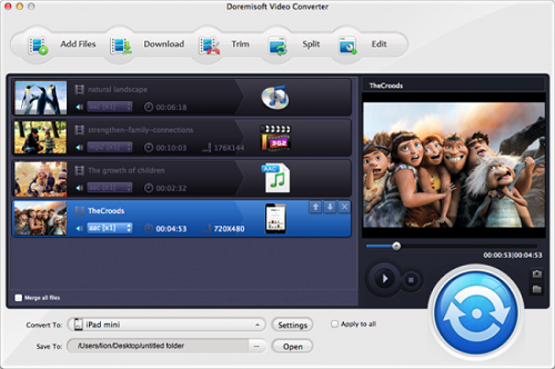 Doremisoft Video Converter 5.2.1 (Mac OS X)