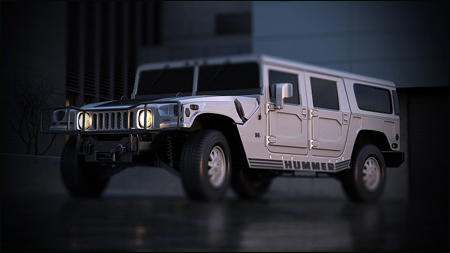 Hummer H1 - 3ds Max
