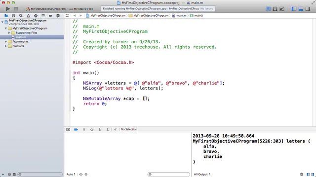 Teamtreehouse - Objective C Basics