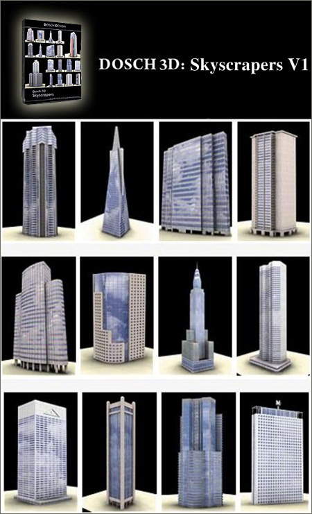 DOSCH DESIGN 3D: Skyscrapers V1