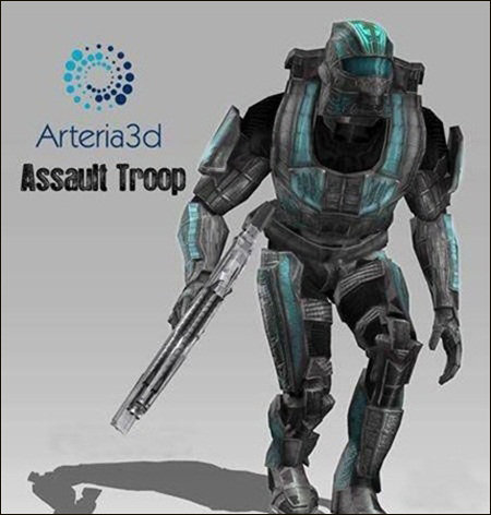 Arteria – 3D Assault Trooper [Animated Character]