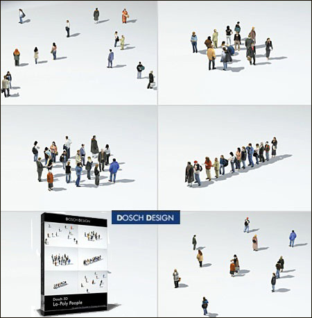 Dosch Design: Lo-Poly People
