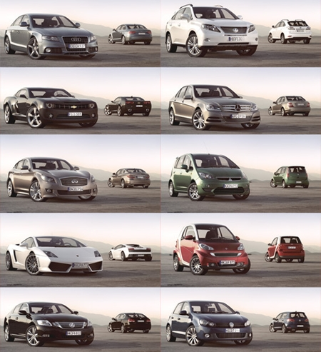PK3DStudio: HD Cars Collection Vol. 4