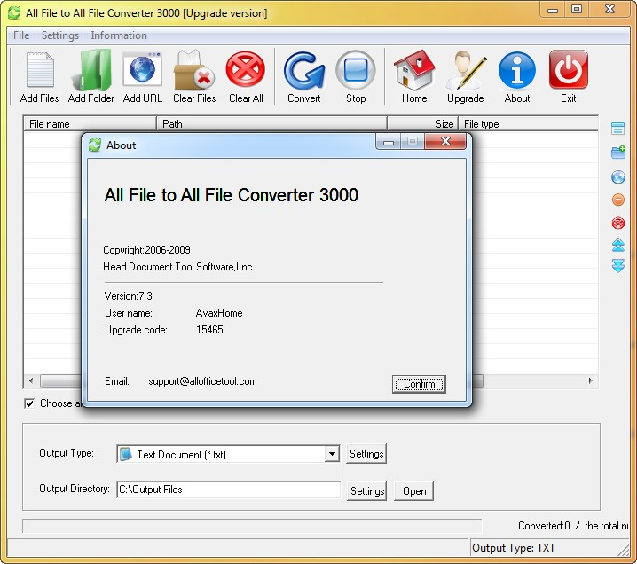 All File to All File Converter 3000 7.3