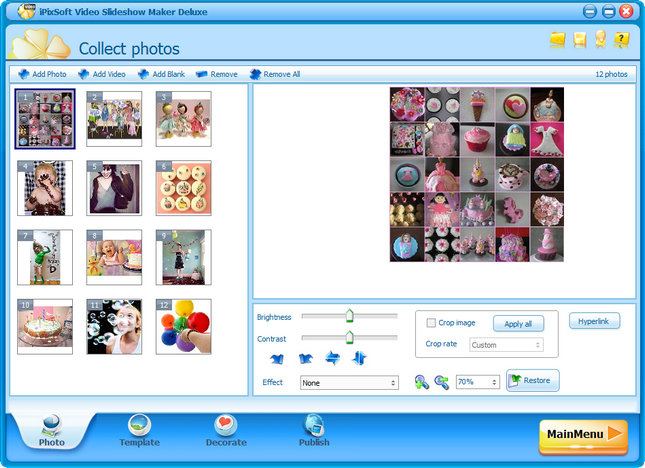 iPixSoft Video Slideshow Maker Deluxe 3.3.0.0