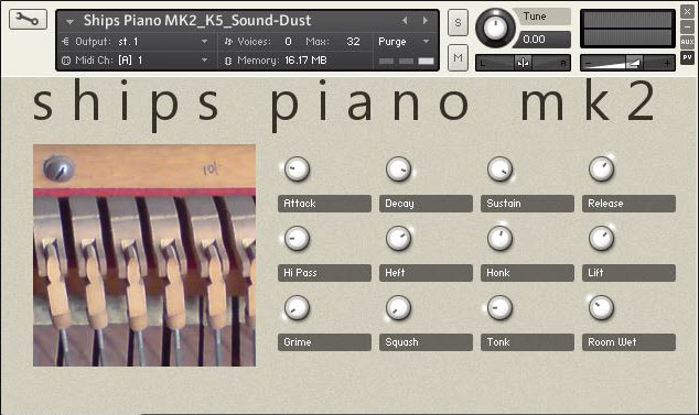 sound DUST Ships Piano MK2 KONTAKT