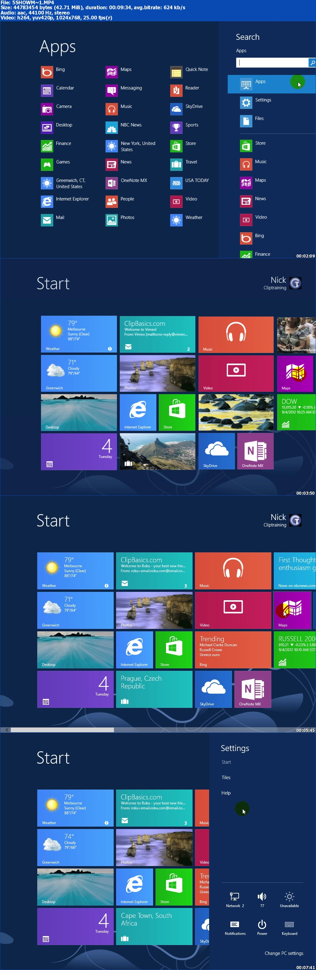 Que Video - Using Windows 8
