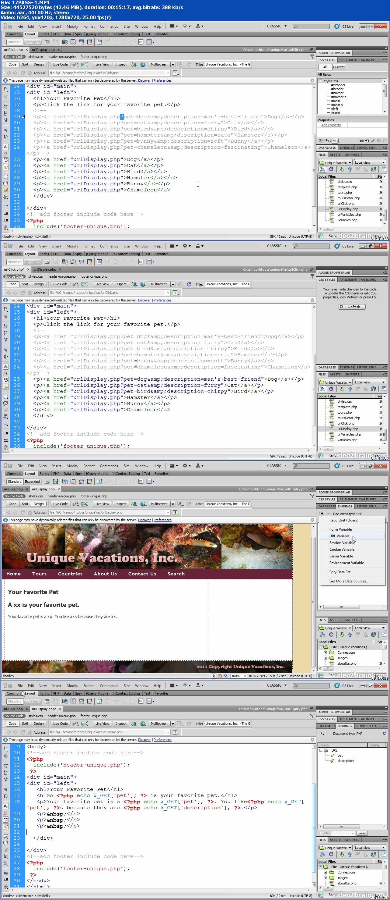 Peachpit Press - Building a Data-Driven Website with Adobe Dreamweaver CS5 5 Learn By Video (Repost)