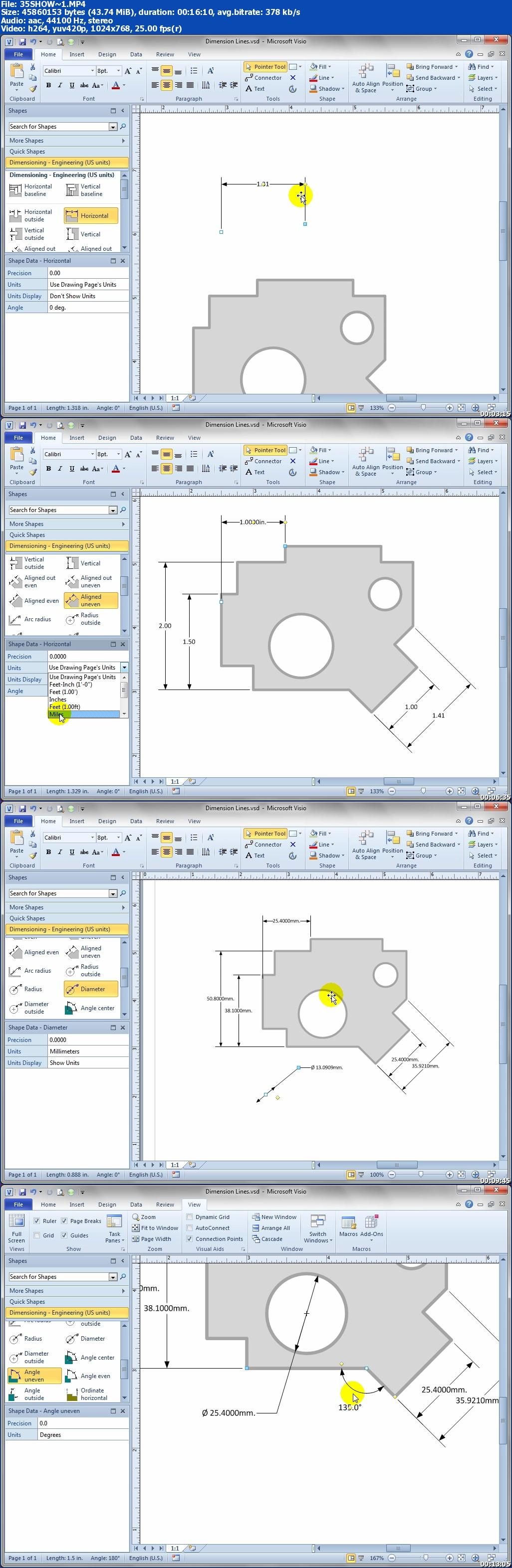 Que Video - USING Microsoft Visio 2010