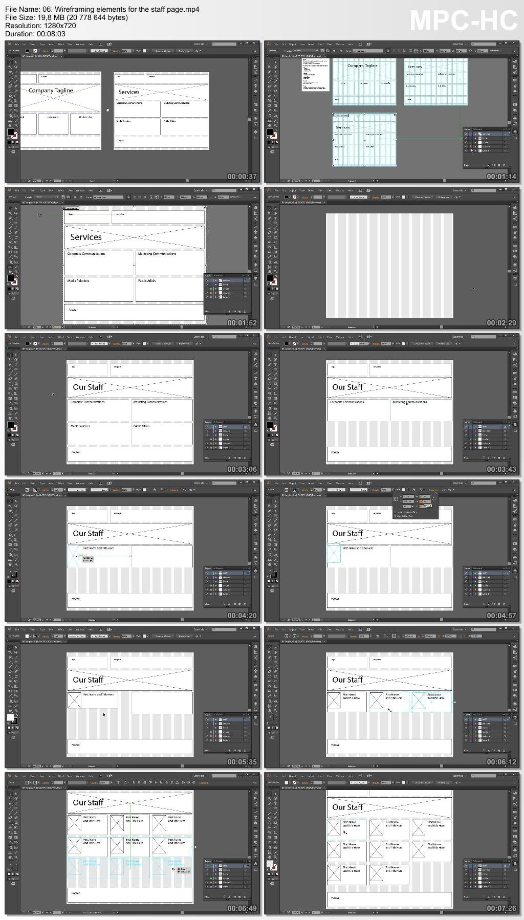 Dixxl Tuxxs - Utilizing Illustrator to Create Website Wireframes