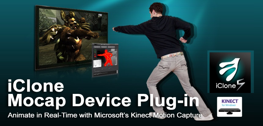 iClone Mocap Plug-in Kinect Motion Capture 1.21.2119.1