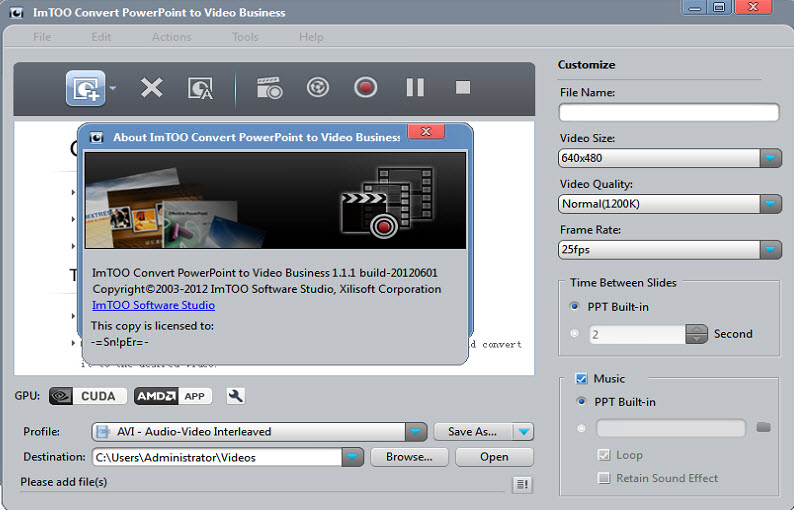 ImTOO Convert PowerPoint to Video Business 1.1.1 Build-20120601 Multilingual + Portable