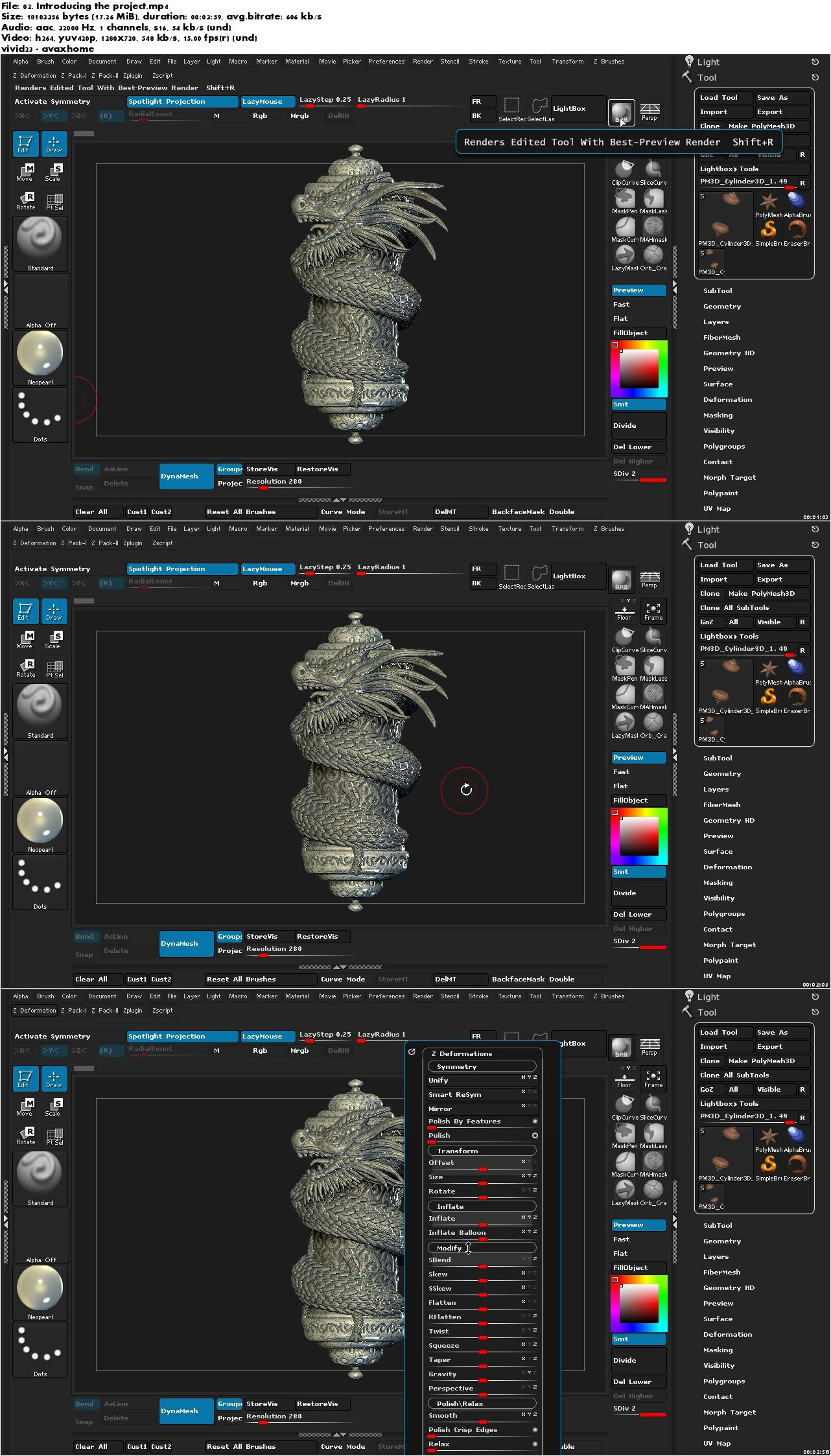 Dixxl Tuxxs - Sculpting a Dragon Scroll Asset in ZBrush