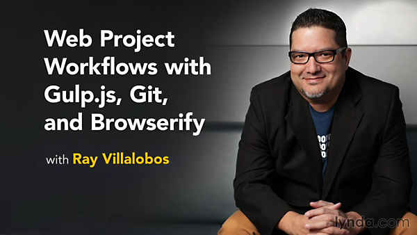 Lynda - Web Project Workflows with Gulp.js, Git, and Browserify