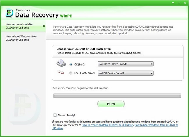Tenorshare Data Recovery WinPE 4.0 Build 1887