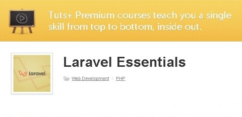 tutsplus - Laravel Essentials