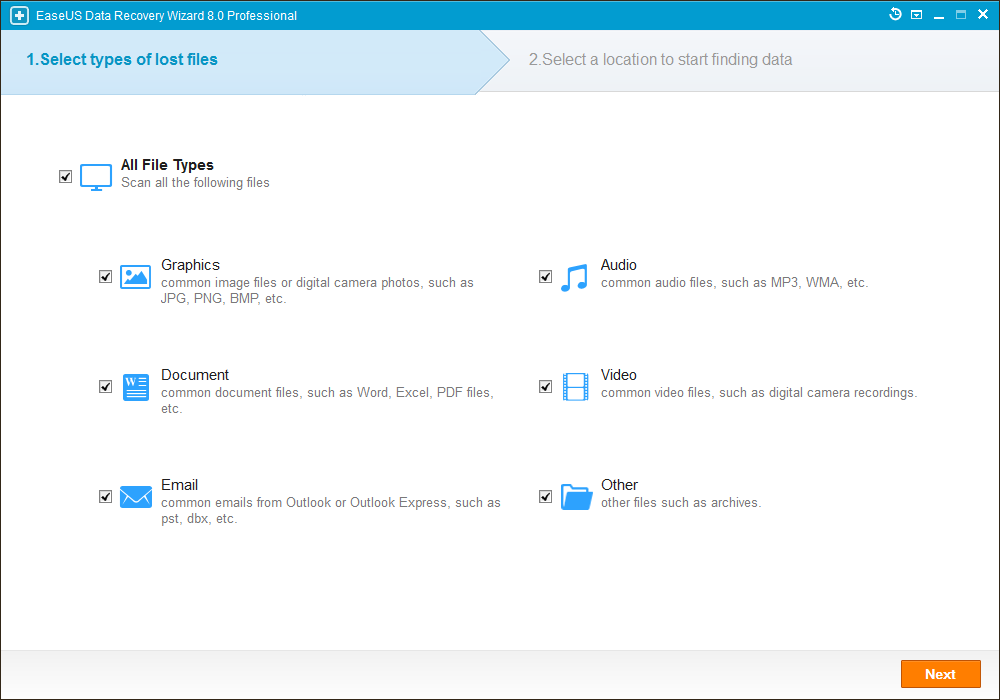 EaseUS Data Recovery Wizard 8.0.0 Professional Multilingual