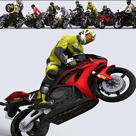 Motorbikes 3D Models Collection