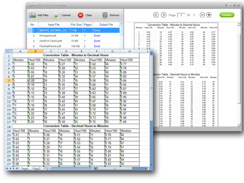 Lighten PDF to Excel Converter 2.0.0