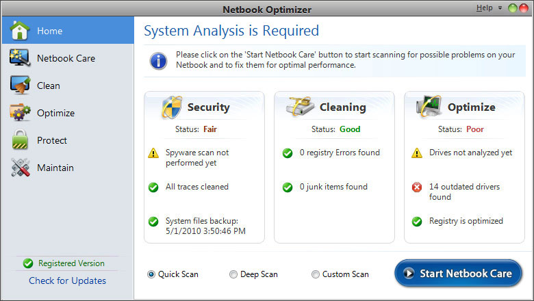Systweak Netbook Optimizer 1.0.0.9150