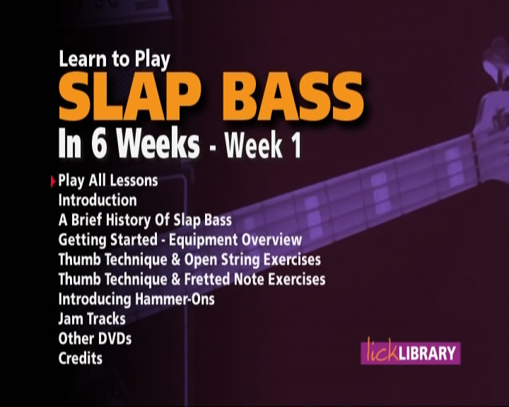 Lick Library - Slap Bass in 6 Weeks [repost]