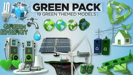 The Pixel Lab - 3D Green Pack